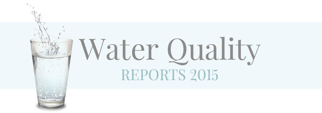 water quality reports 2015