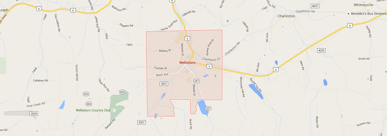 wellsboro map